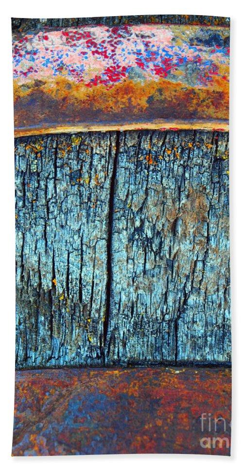 Texture Beach Towel featuring the photograph The Wheelbarrow by Tara Turner