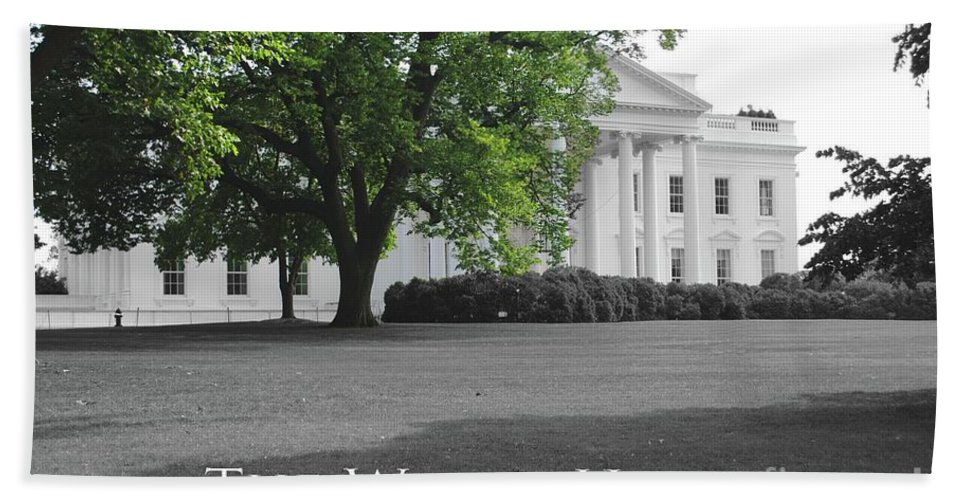 White House Beach Towel featuring the photograph The White House by Jost Houk