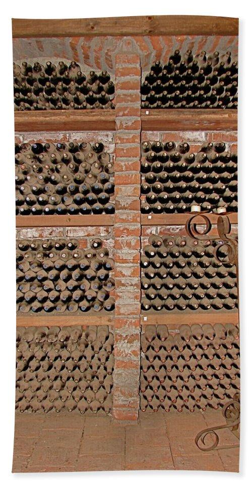 Colchagua Beach Towel featuring the photograph The Wine Cellar by Brett Winn