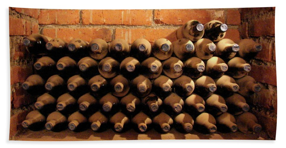 Colchagua Beach Towel featuring the photograph The Wine Cellar II by Brett Winn