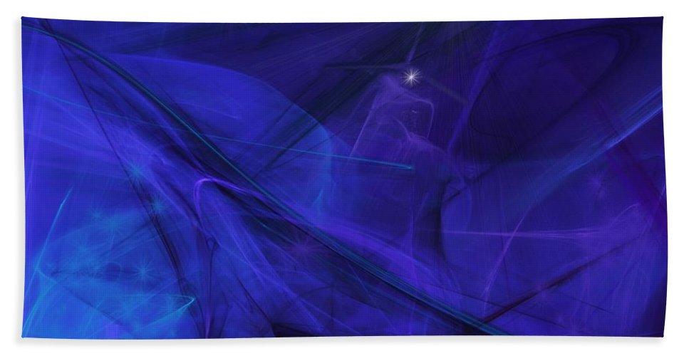 Fine Art Beach Towel featuring the digital art The Wizard Mid-incantation by David Lane