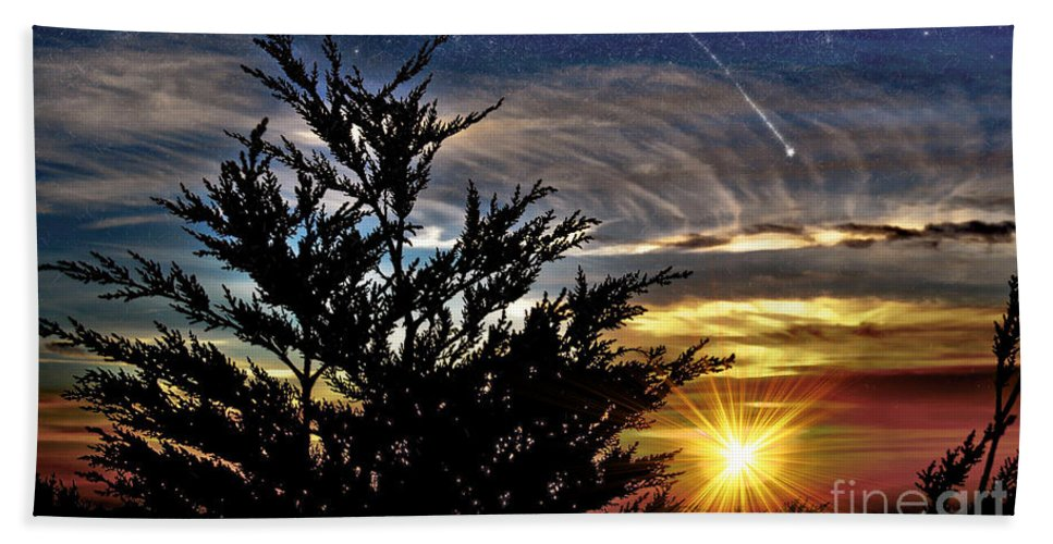 Sunset Beach Towel featuring the photograph The Wonders Of What Tomorrow Will Bring by Jim Fitzpatrick