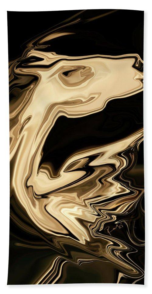 Art Beach Sheet featuring the digital art The Young Pegasus by Rabi Khan