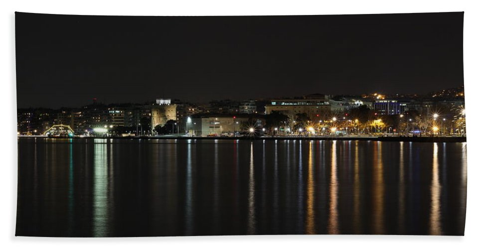 Beach Towel featuring the photograph Thessaloniki, Greece by Konstantinos Nedos