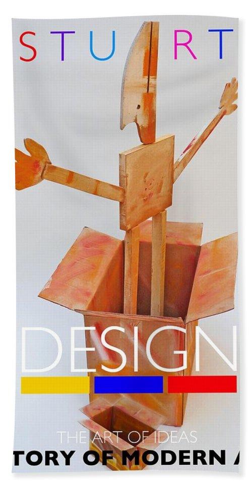 De Stijl Beach Towel featuring the digital art Think Outside The Box by Charles Stuart