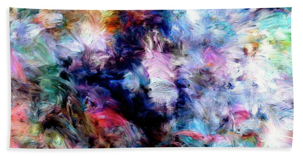 Abstract Beach Towel featuring the painting Third Bardo by Dominic Piperata