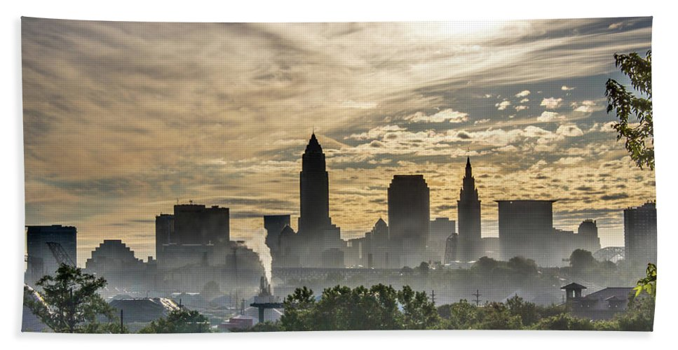 Cleveland Beach Towel featuring the photograph This Land by SWDF Photography