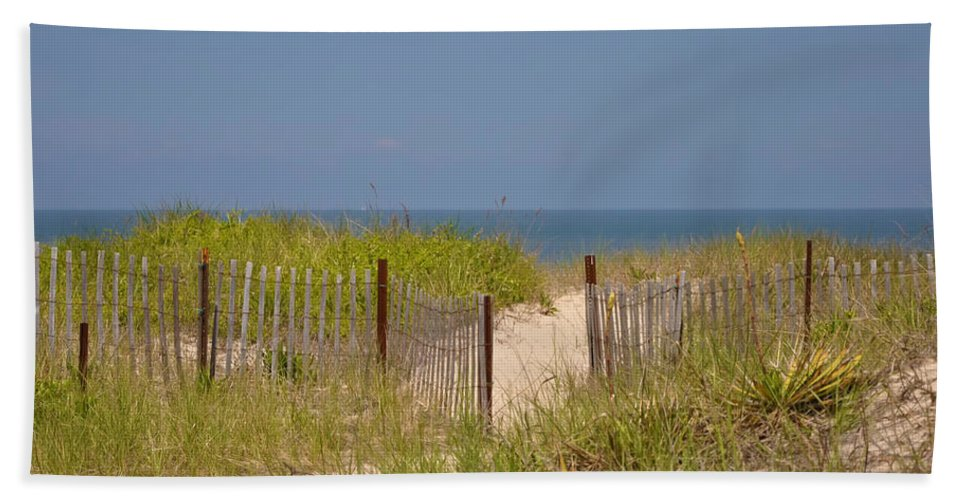 Beach Beach Towel featuring the photograph This Way To The Beach by Bill Cannon
