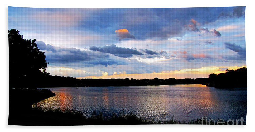 Lake Beach Towel featuring the photograph Thompson Lake 3 by September Stone