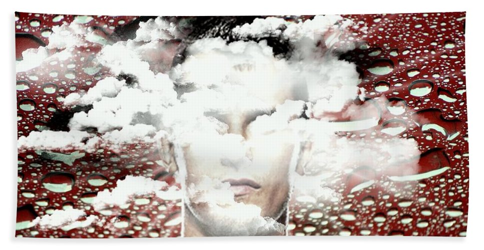 Thoughts Beach Towel featuring the digital art Thoughts Are Like Clouds Passing Through The Sky by Paulo Zerbato