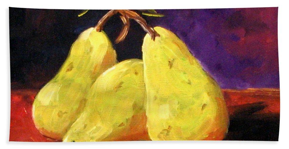 Art Beach Sheet featuring the painting Three Buddies by Richard T Pranke
