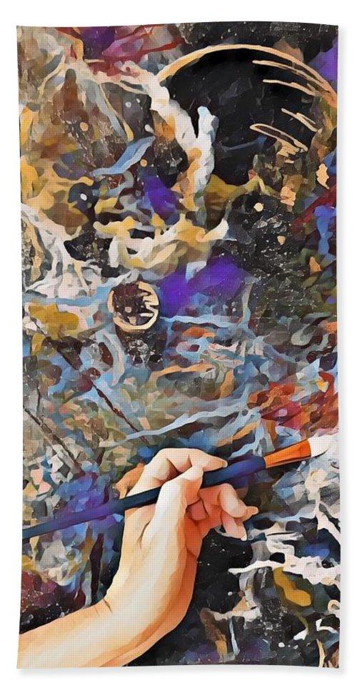Art Beach Towel featuring the mixed media Through My Eyes by Tracy Mcdurmon