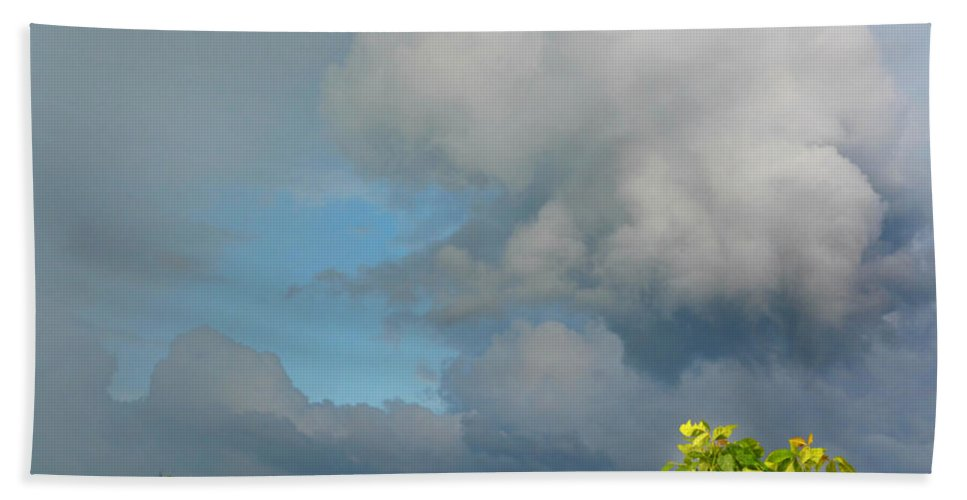 Storm Beach Towel featuring the photograph Through The Clouds by Ally White
