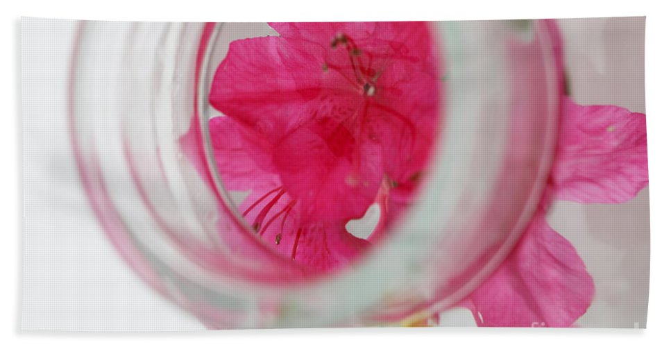 through The Looking Glass Beach Towel featuring the photograph Through The Looking Glass by Amanda Barcon