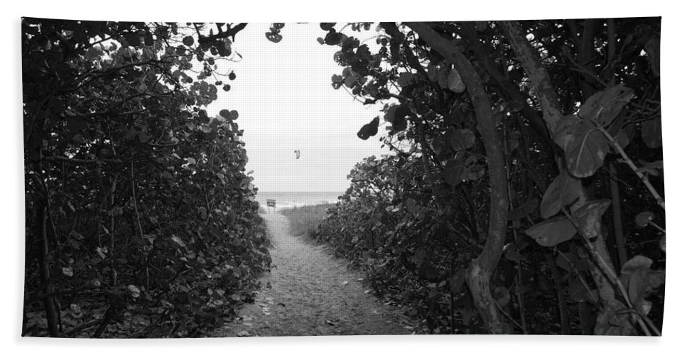 Black And White Beach Towel featuring the photograph Through The Looking Glass by Rob Hans
