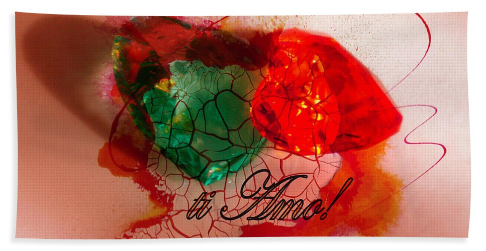 Hearts Beach Towel featuring the photograph Ti Amo Too by Richard Ricci