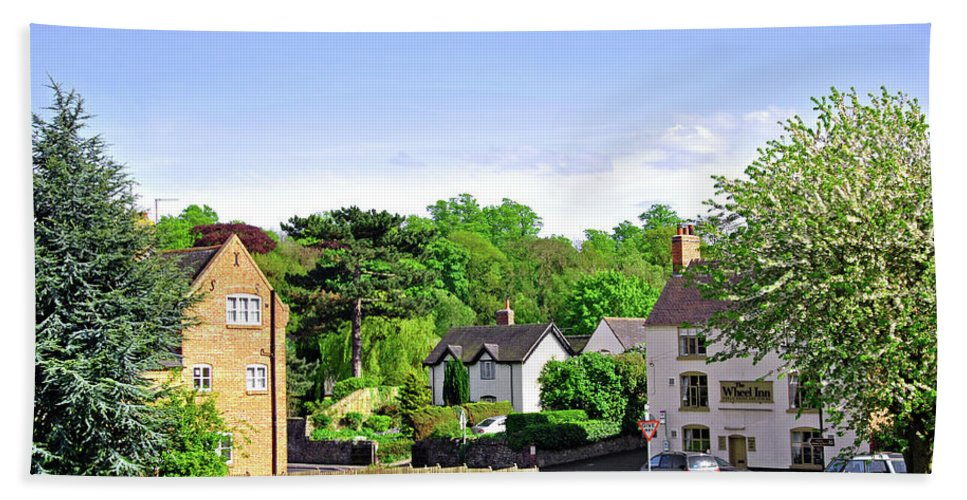 Fence Beach Towel featuring the photograph Ticknall Village From Ingleby Lane by Rod Johnson