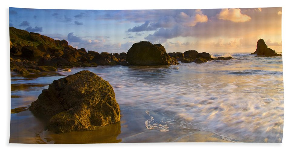 Beach Beach Towel featuring the photograph Tidal Flow by Mike Dawson