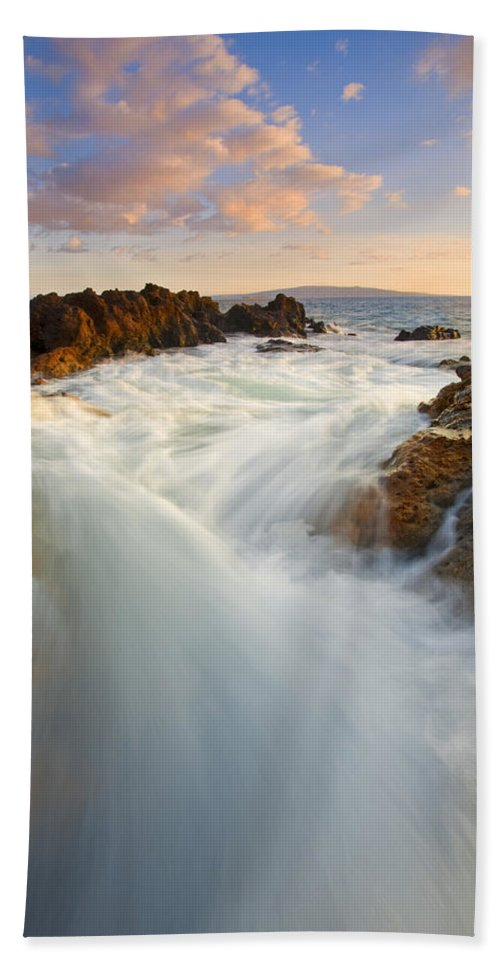 Surge Beach Towel featuring the photograph Tidal Surge by Mike Dawson