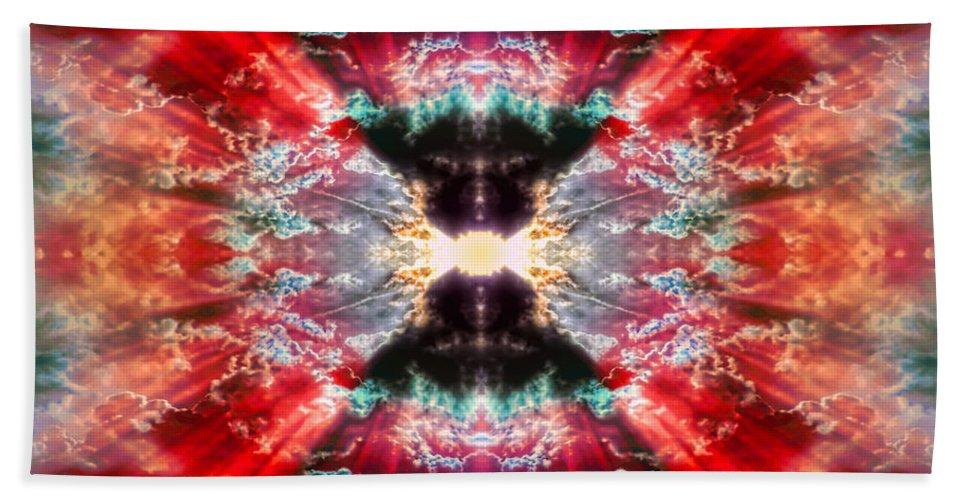 Tie Dye Beach Towel featuring the digital art Tie Dye Sky by Gordon Dean II