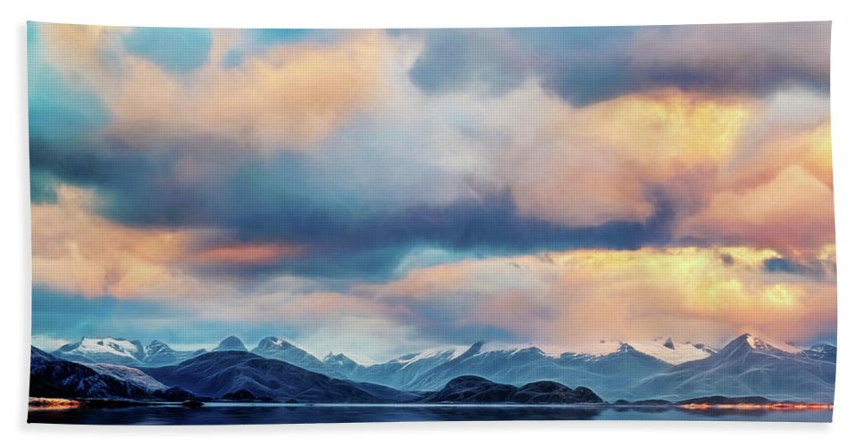 Andes Beach Towel featuring the photograph Tierra Del Fuego by Maria Coulson