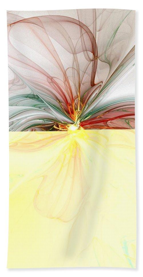 Digital Art Beach Towel featuring the digital art Tiger Lily by Amanda Moore