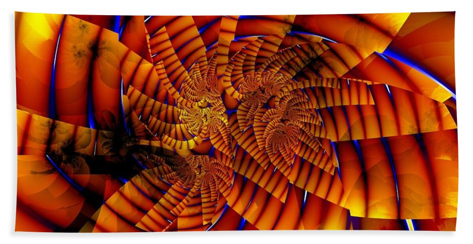 Flower Beach Towel featuring the digital art Tiger Lily by Ron Bissett