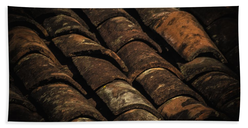 Tile Roof Beach Towel featuring the photograph Tile Roof 1 by Totto Ponce