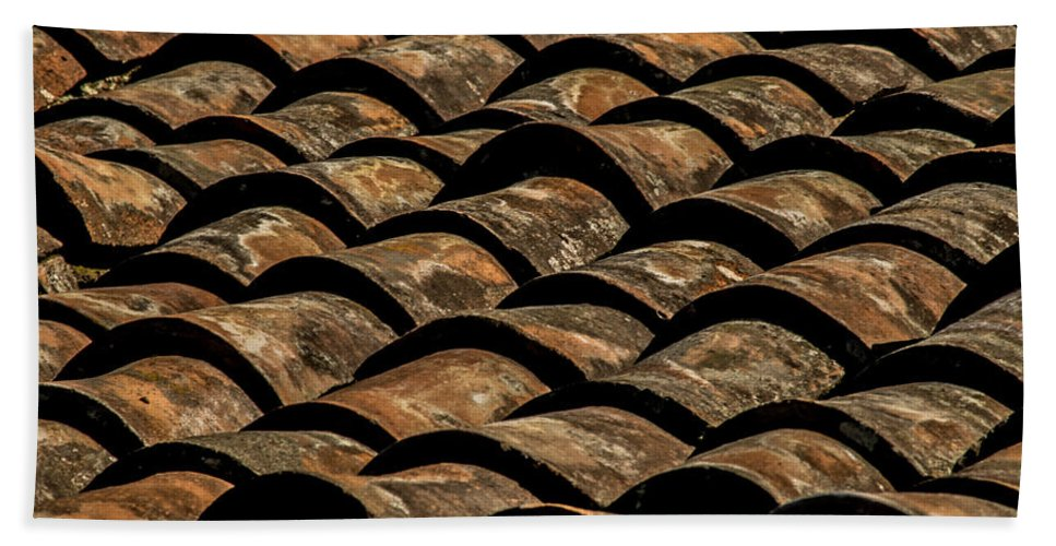 Tile Roof Beach Towel featuring the photograph Tile Roof 4 by Totto Ponce