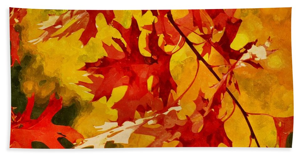 Autumn Beach Towel featuring the digital art Time For Change by Autumn Moon