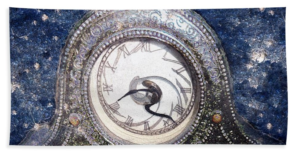 Clock Beach Towel featuring the painting Time Warp by RC DeWinter
