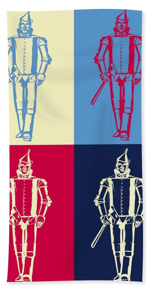 Tin Man Beach Towel featuring the digital art Tin Man Pop Art Poster by Dan Sproul