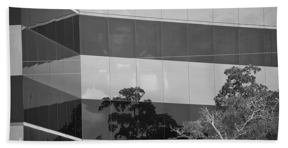 Black And White Beach Towel featuring the photograph Tinted Glass by Rob Hans