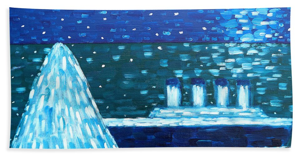 Titanic Beach Towel featuring the painting Titanic by Patrick J Murphy