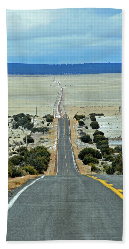 Road Beach Towel featuring the photograph To Eternity by David Arment