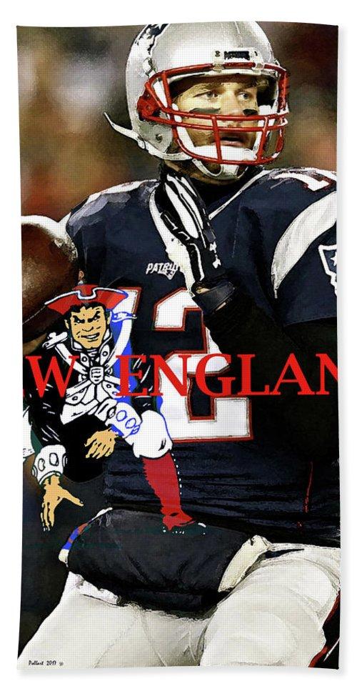 Tom Brady Number 12 New England Patriots Captain America Beach