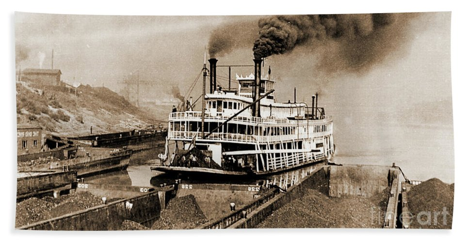 River Beach Towel featuring the photograph Tom Greene River Boat by Gary Wonning