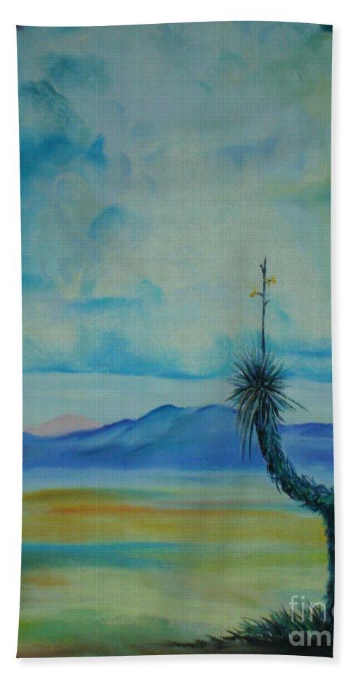 Arizona Beach Towel featuring the pastel Tombstone by Melinda Etzold