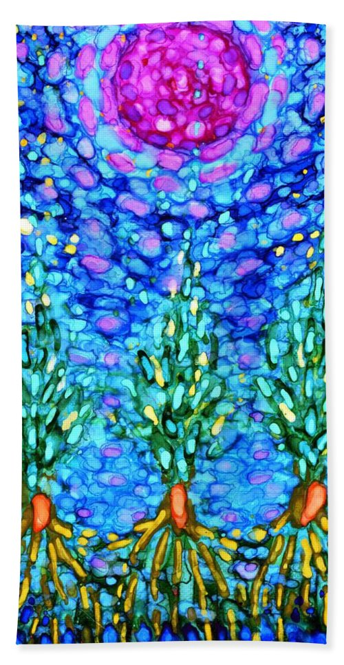 Colour Beach Towel featuring the painting Tomorrow by Wojtek Kowalski