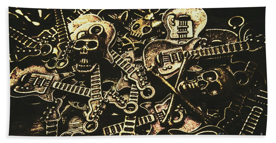 Punk Beach Towel featuring the photograph Tones Of Hard Rock by Jorgo Photography - Wall Art Gallery