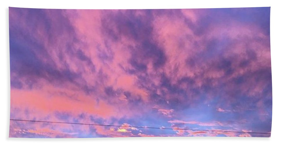 Natureonly Beach Towel featuring the photograph Tonight's Sunset Over Tesco :) #view by John Edwards