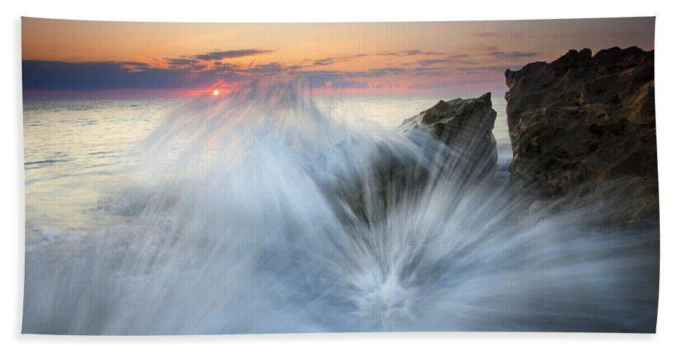 Sunrise Beach Towel featuring the photograph Too Close For Comfort by Mike Dawson