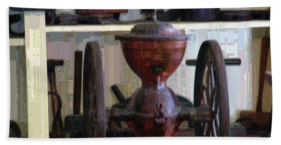 Americana Beach Towel featuring the digital art Tools For The Times by RC DeWinter