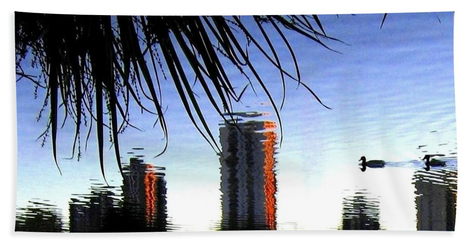 Sunset Beach Sheet featuring the photograph Topsy-turvy by Will Borden