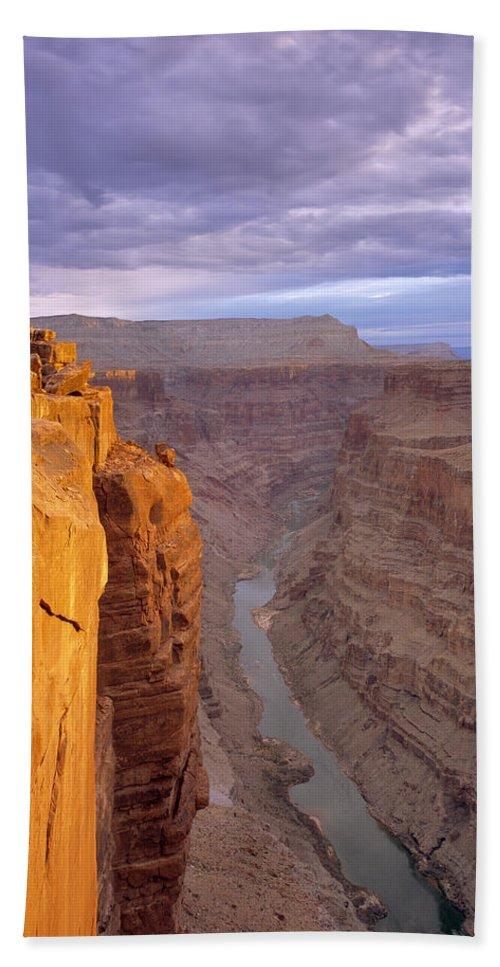 Arizona Beach Towel featuring the photograph Toroweap Overlook Cliff by Leland D Howard