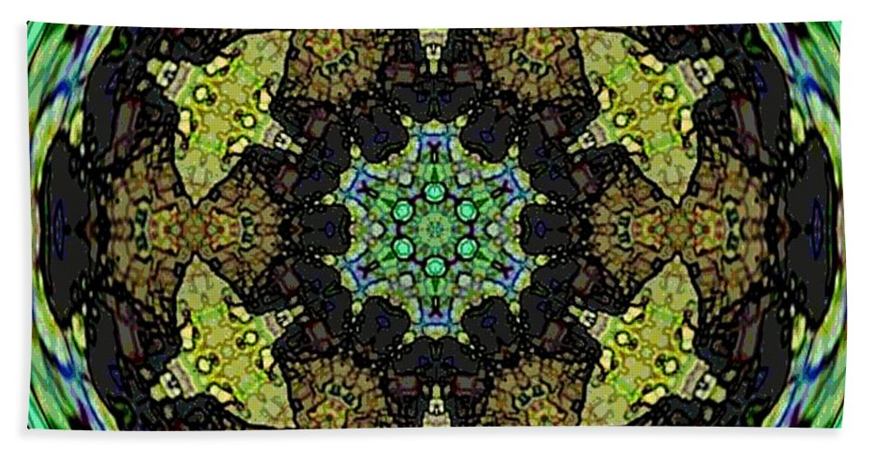 Fractal Image Beach Towel featuring the photograph Tortuga by Amber Stubbs