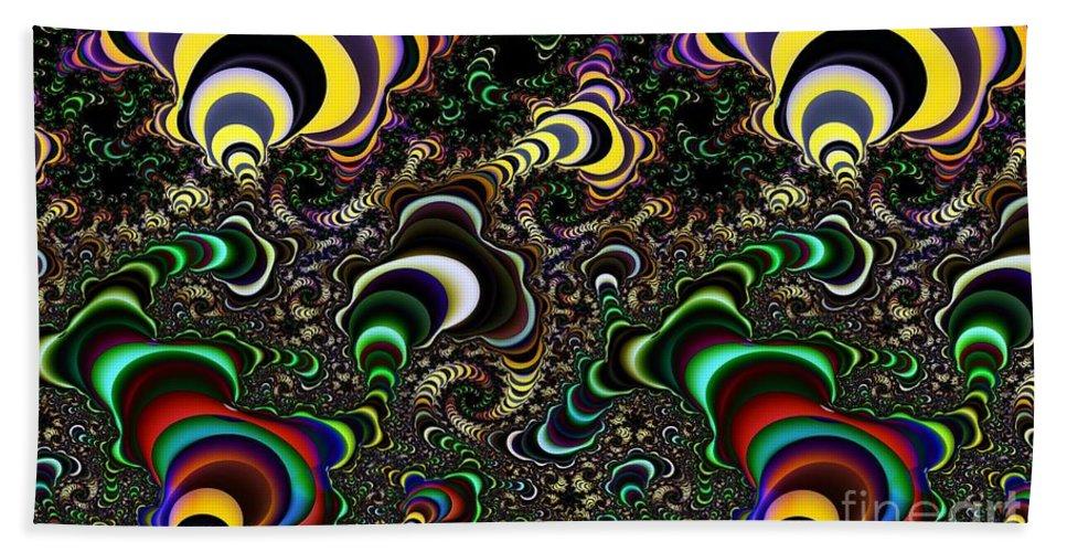 Torus Beach Towel featuring the digital art Torus Spirals by Ron Bissett
