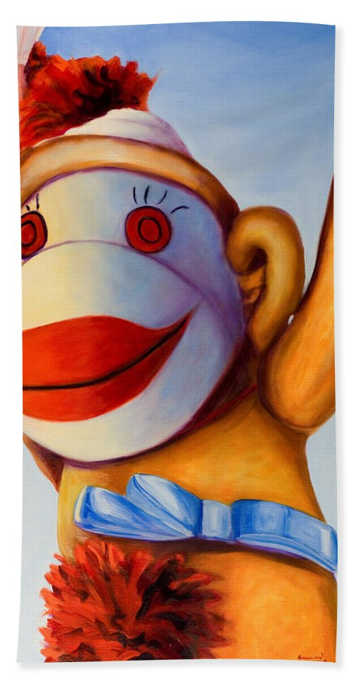 Children Beach Towel featuring the painting Touchdown by Shannon Grissom