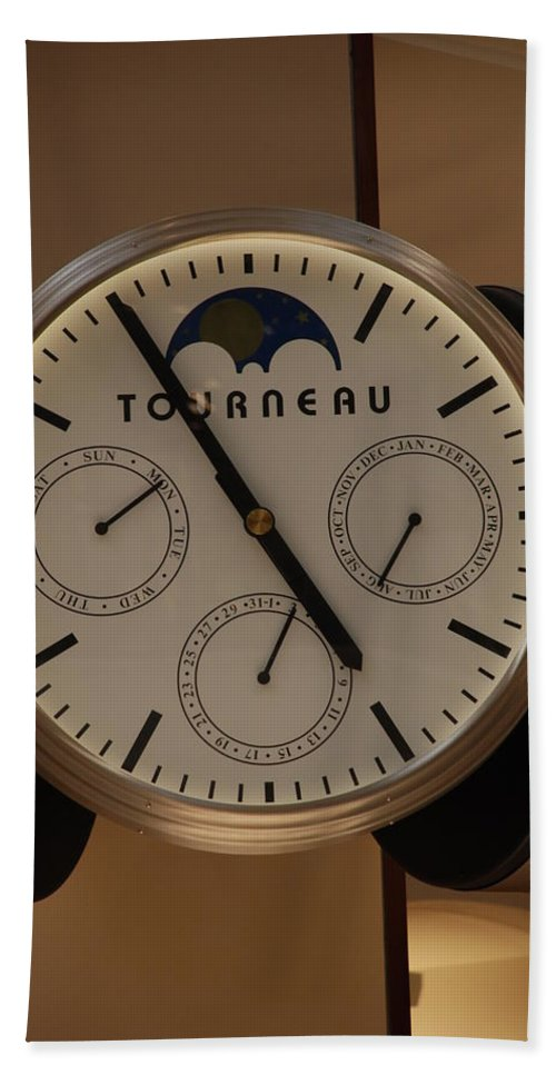Clock Beach Towel featuring the photograph Tourneau by Rob Hans