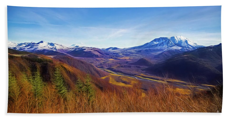 Toutle River Beach Towel featuring the photograph Toutle River by Jon Burch Photography